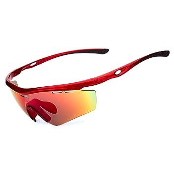Polarizadas deporte gafas de sol Ciclismo gafas, rojo