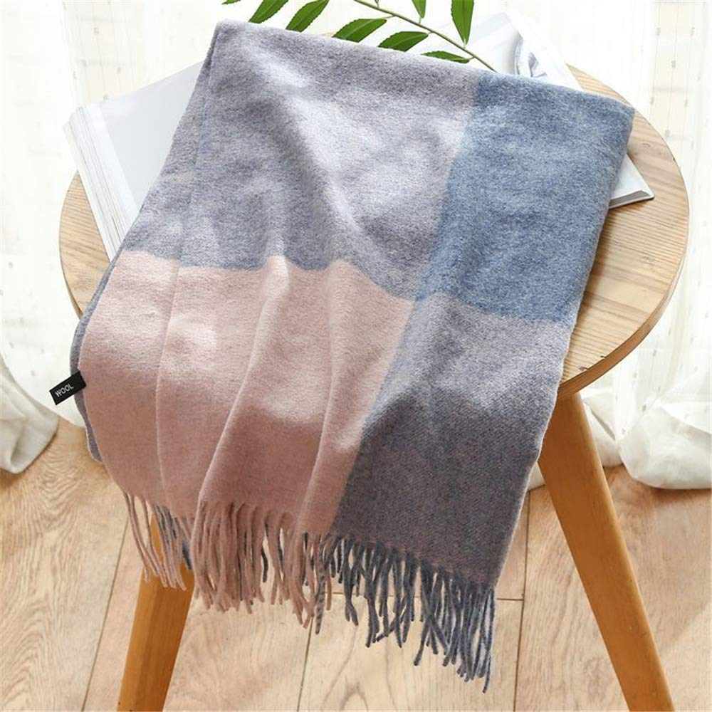 3 Vintage Womens Soft Feel Shawls Wraps Large Long Winter Scarf Plaid Fringe (color   03)
