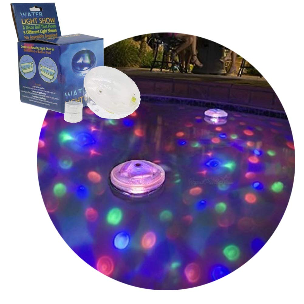 Details about Swimming Pool Lights Underwater Floating Fountain Show  Waterfall LED Multi Color