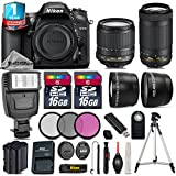 Holiday Saving Bundle for D7200 DSLR Camera + AF-P 70-300mm VR Lens + 18-105mm VR Lens + Backup Battery + 1yr Extended Warranty + Flash + 2 Of Ultra Fast 16GB Class 10 - International Version