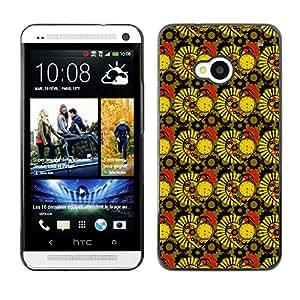 ZECASE Funda Carcasa Tapa Case Cover Para HTC One M7 No.0003345