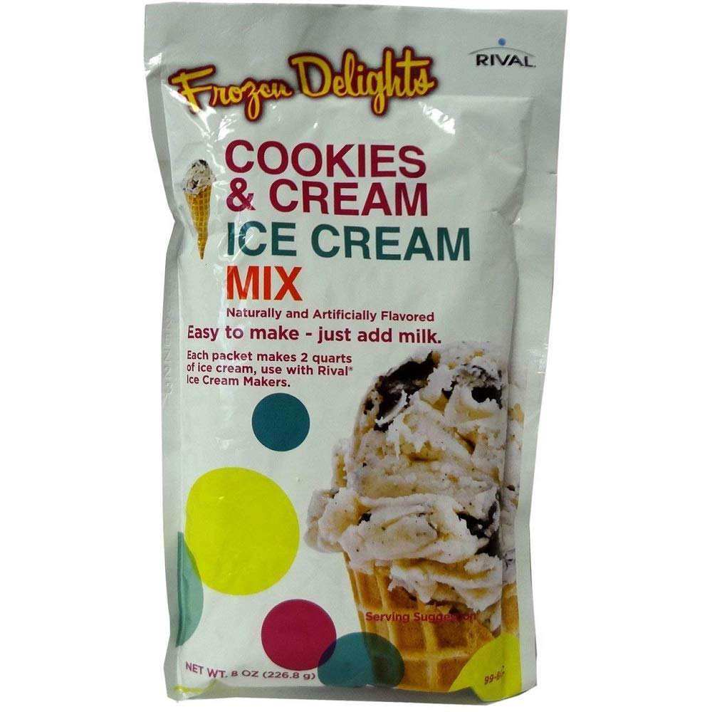 Rival Frozen Delights Cookies & Cream Ice Cream Mix, 8 Oz (Pack of 2) by Rival (Image #1)