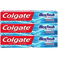 3-Pack Colgate Max Fresh 7.6 Ounce Toothpaste