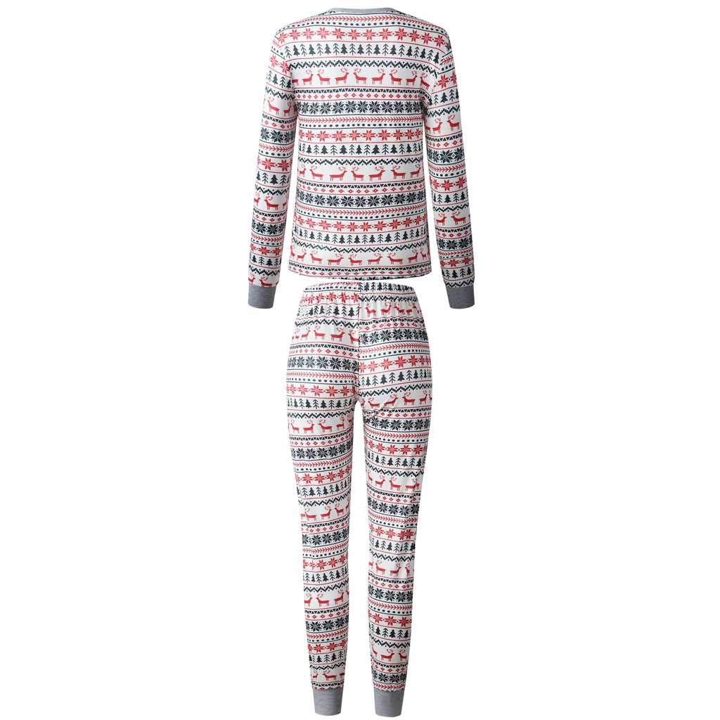 Voberry Family Christmas Pajamas Set Matching Xmas Deer Jammies Sleepwear Dad Mom Kids Holiday PJs by Voberry@123