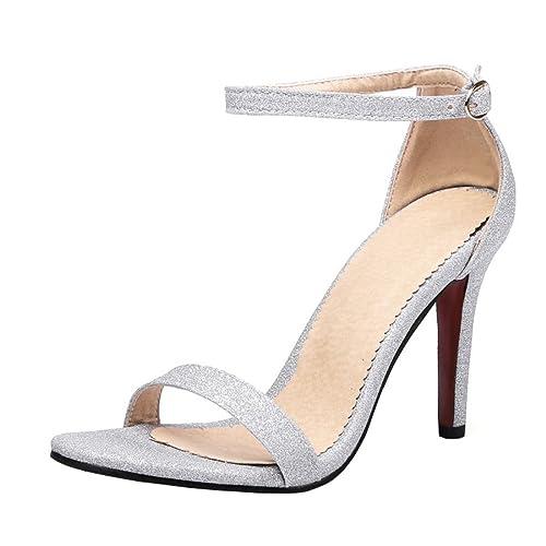 YE Donna Sandali Aperti Estivi Scarpe con Tacchi a Spillo Alto Lucide con  Cinturino alla Caviglia Fibbia  Amazon.it  Scarpe e borse a9fe14b7d7f