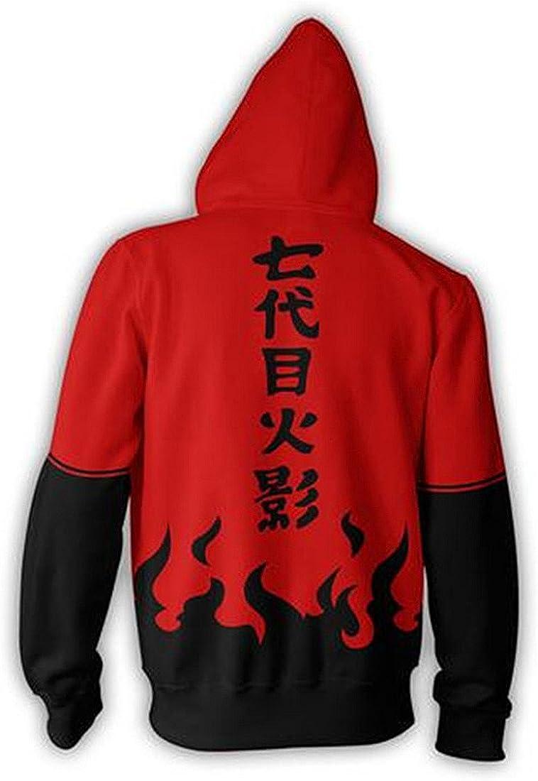 CHENMA Herren Naruto Kakashi Lang/ärmelige Kapuzenjacke mit durchgehendem Rei/ßverschluss und Kapuze