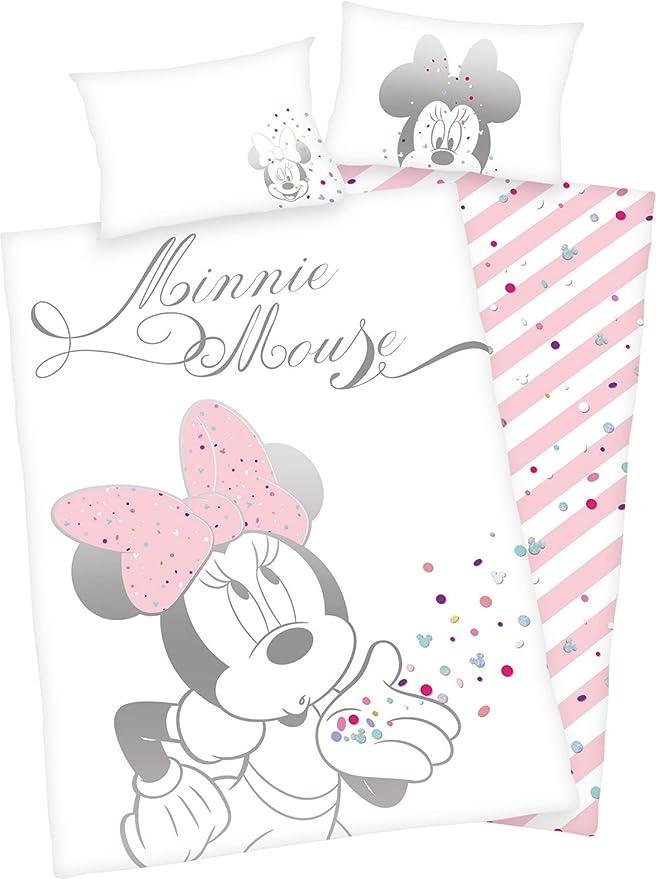 Parure De Lit Bebe Disney Minnie Mouse 135 X 100cm 40 X 60cm
