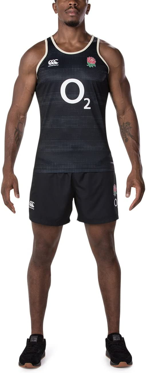 Anthracite Canterbury 2018-2019 England Rugby Vapordri Elite First Layer Top