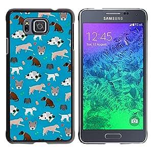 For Samsung ALPHA G850 - Cute Dogs Pattern Frenchie Dalmatian /Modelo de la piel protectora de la cubierta del caso/ - Super Marley Shop -
