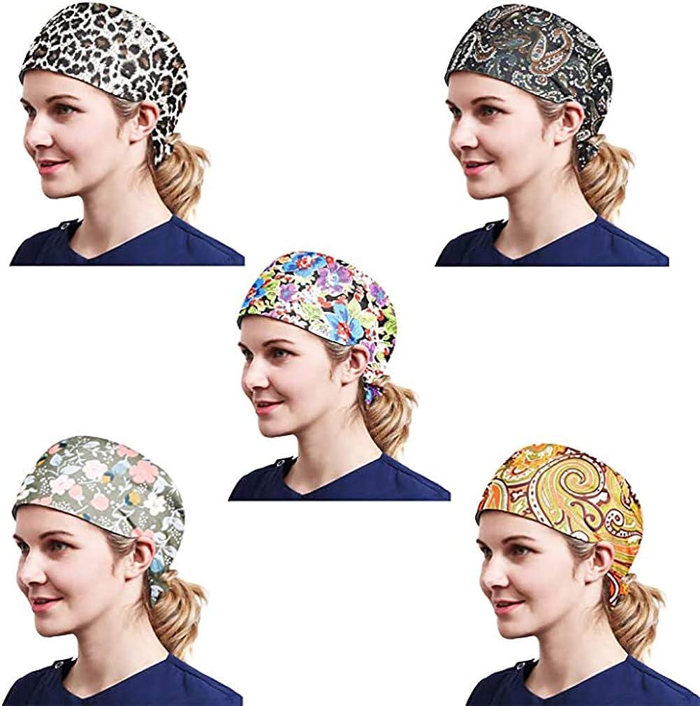 Surgical Hat Surgical Cap Bouffant Bonnet Style w//tie Washable /& Reusable Royal