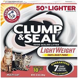 Arm & Hammer Clump & Seal Lightweight Litter, Multi-Cat, 9 Lbs