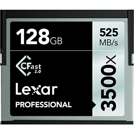 Lexar lc128crbeu3500 Professional 3500 X (525mb/S) Pro CFast ...