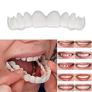 Amazon Com Teeth Top Daxiangx Smile Denture Fit Flex Cosmetic