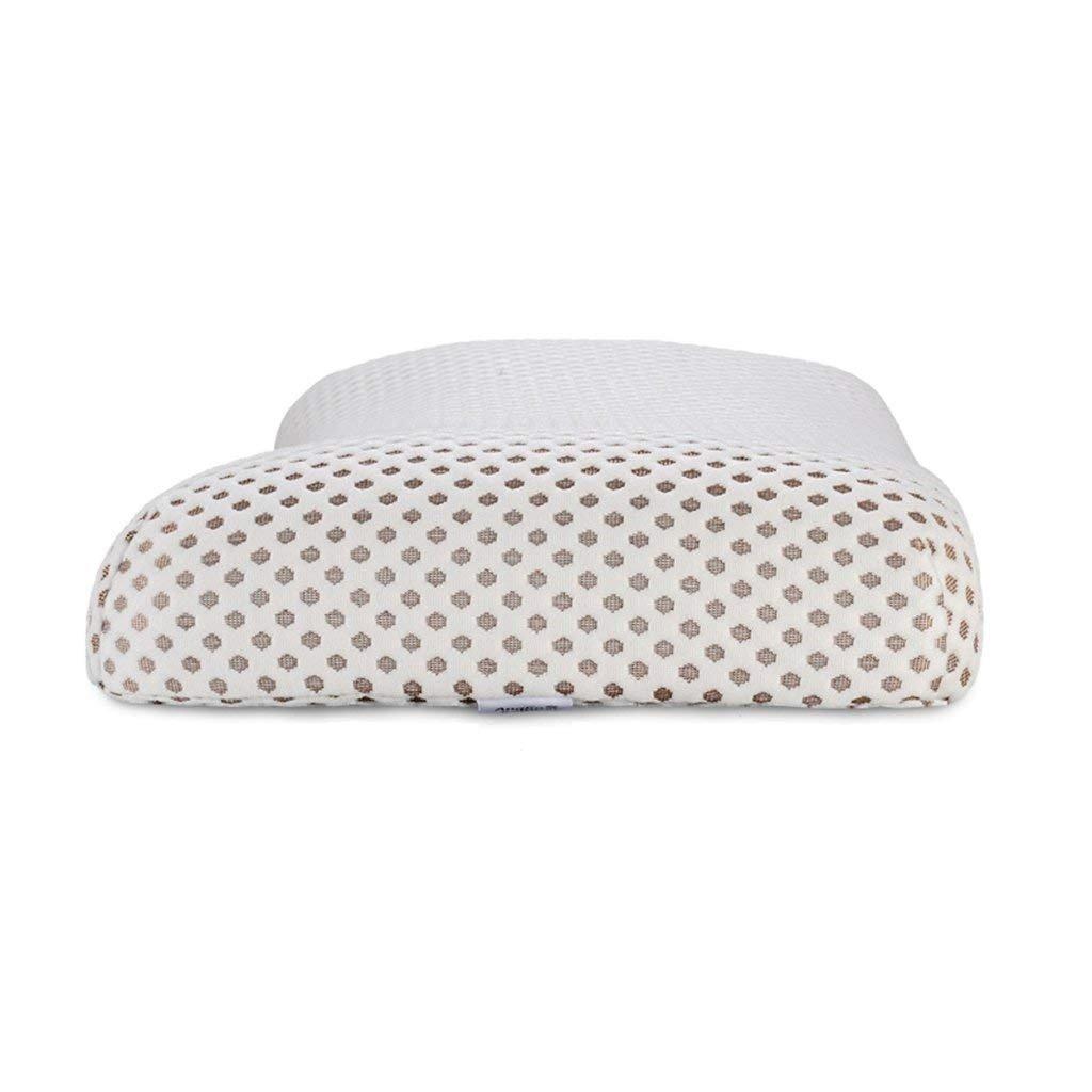 ゆっくりリバウンドメモリ綿枕竹炭枕メモリホワイト枕55×36×8/7cm B07FLZPW7H