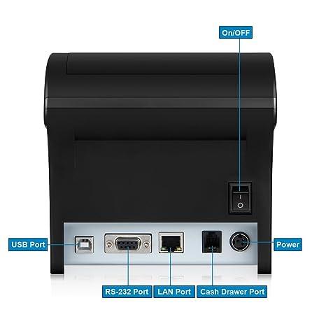 Floureon ZJ-8220 Impresora Térmica de Recibos y Billetes (80MM, 300mm/s, ESC / POS, Auto: Amazon.es: Electrónica