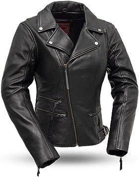 Black, 3X-Large First Mfg Co Mens Major Ego Leather Jacket