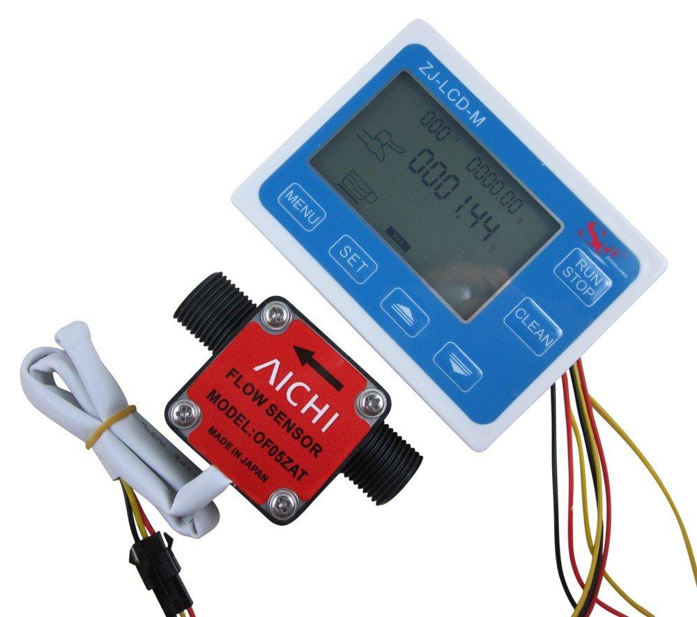 DIGITEN G1/2'' Flow Control LCD Display+Oil Fuel Gas diesel Milk Water Liquid Flow Sensor
