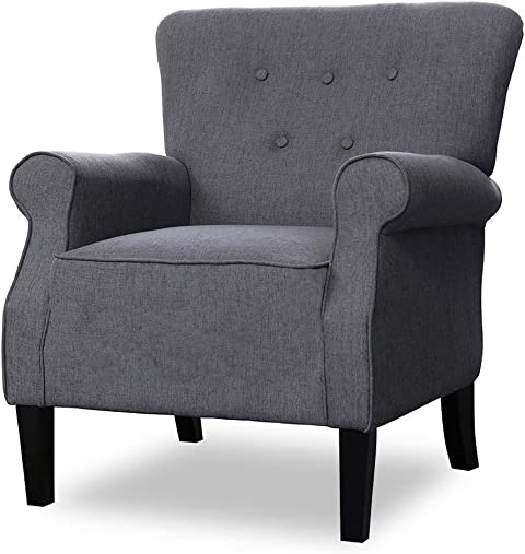 Reviewed: Top Space Accent Chair Sofa Mid Century Upholstered Roy Arm Single Sofa Modern Comfy Furniture