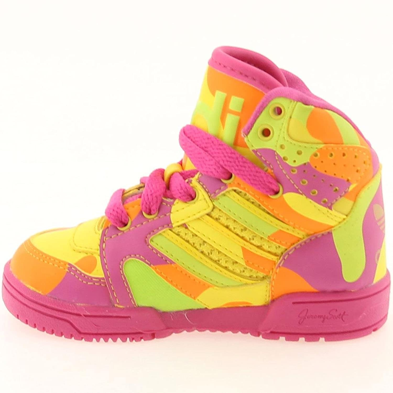 Amazon.com | adidas Jeremy Scott Kids Shoes Sneakers Hi Neon Lime Slime/Vivid  Yellow G95752 (SIZE: 7.5K) | Sneakers