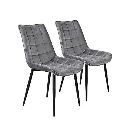Amazon.com: Dinning Chairs Set of 2 Velvet,JULYFOX Kitchen ...