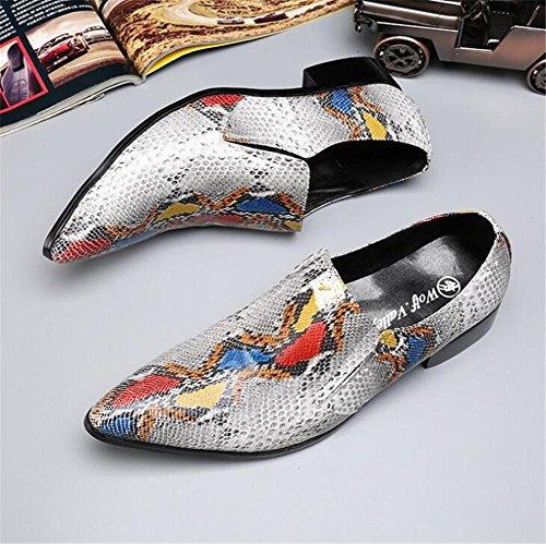 Imprimir hombre Cuero colores Tamaño 38 45 De Serpiente Inteligente a Negocios de Zapatos Vestir formales WRSTqncIT