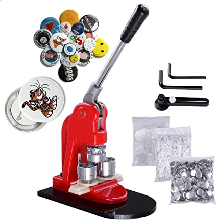 Machine + 750 Buttons + Circle Cutter + Glass Plate Complete Button Making Set