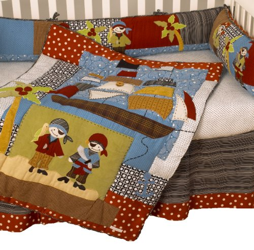 Cotton Tale Designs Pirates Cove 4 Piece Crib Bedding Set (Pirates Nursery Cove)