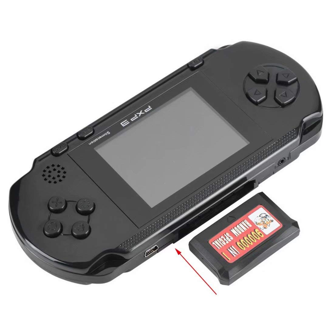 qiaoniuniu Handheld Game Console Kids Gift 16 Bit Portable Classic Video Games 150 Games Retro MD Paly Games PXP3 (Color: Black) by qiaoniuniu (Image #3)