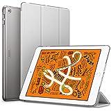 ESR iPad Mini 5 2019 ケース 薄型 PU レザー スマート カバー キズ防止 クリア ハード 背面 ケース 三つ折り スタンド オートスリープ ウェイクアップ 機能 iPad Mini5(第五世代) 専用(グレー)