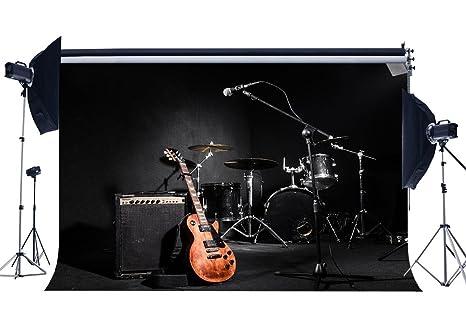 Amazon Com Gladbuy Vinyl 9x6ft Band Concert Backdrop Music Guitar