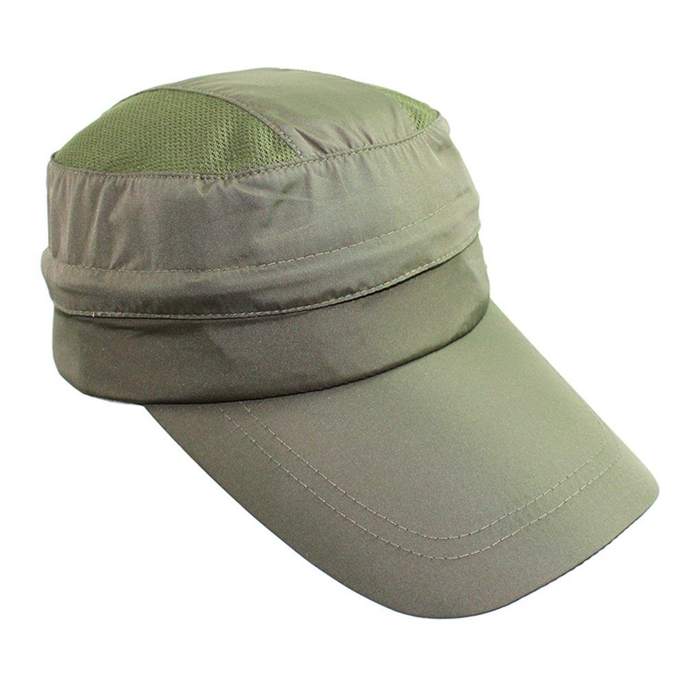 EforstoreカジュアルUV保護キャップレディース2 in 1 Anti UVビーチサンハット夏バイザー帽子Wide BrimキャップRemovable Top Peaked Cap  グリーン B0748DT3PN