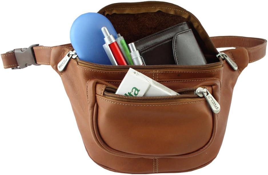 B000LYZR4E Piel Leather Travelers Waist Bag, Saddle, One Size 61KjBuslnUL