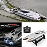 Remote Control Boat 2.4GHz 4CH Electric RC High Speed Racing Ship for Lake Boy Kids Toddlers