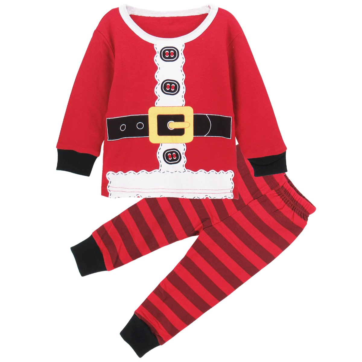 A& J Design Baby Boy's Infant Santa Claus Christmas Pajamas 2 Piece Set
