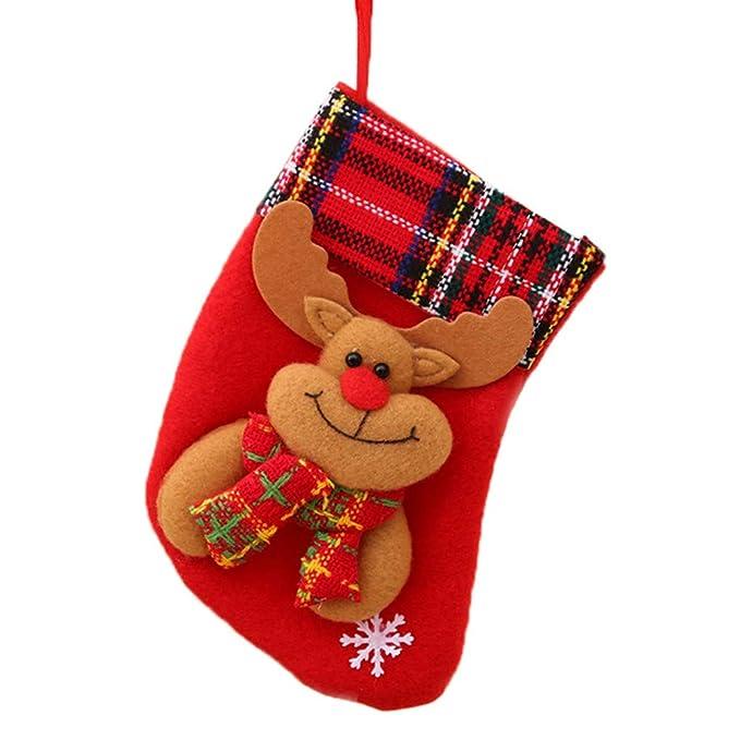 LILICAT❋ Bolsa de Dulces navideños Bolsa de Regalo Colgante multifunción Llavero Llave de Copo de