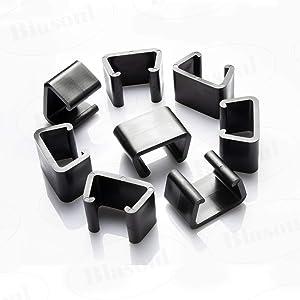 Outdoor Patio Wicker Furniture Clips Blasoul 8PCS Sectional Sofa Rattan Furniture Clips Chair Fasteners (Medium)