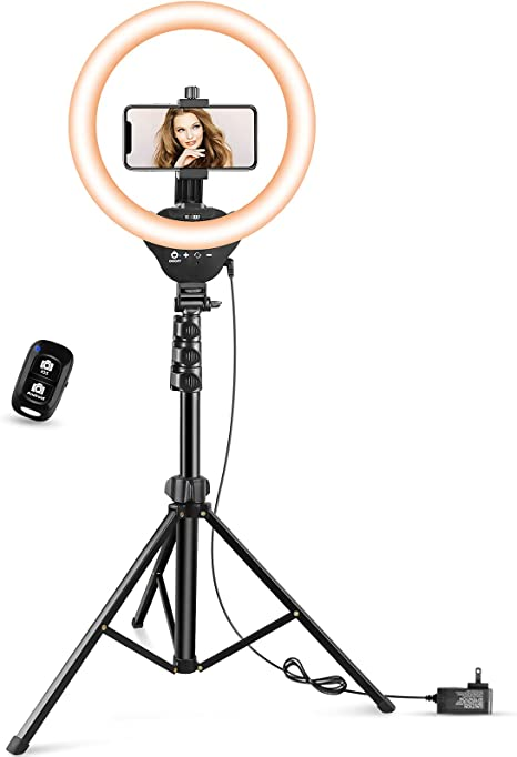 """12"""" LED Ring Light with Stand and Phone Holder, Aureday 3000K-6000K Dimmable Selfie Ringlight for YouTube Video/Live Stream/Makeup"""