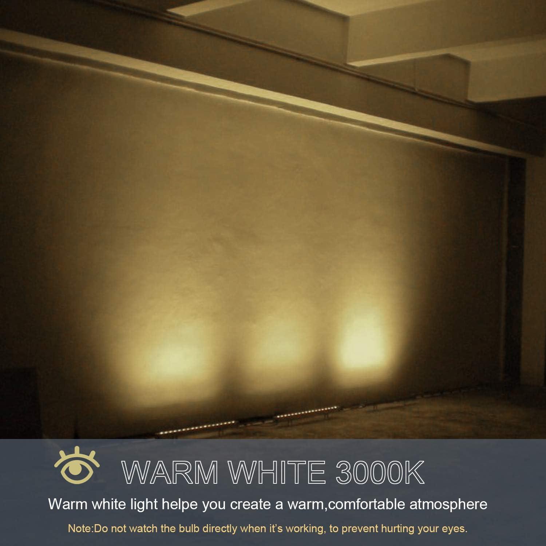 Dusk to Dawn LED Wall Washer Light 18W 120V LED Light Bar for Garage Landscape Porch IP65 Waterproof Yard Warm White 3000K