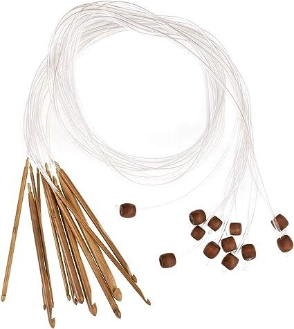 12 PCs//Set Carpet Bamboo Afghan Hooks Crochet Tunisian Needles Flexible