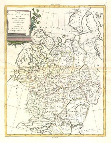 Amazon Com La Russia Europea European Russia Zatta 1783