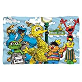 "Retro Gang -- Sesame Street -- Fleece Throw Blanket (36""x58"")"
