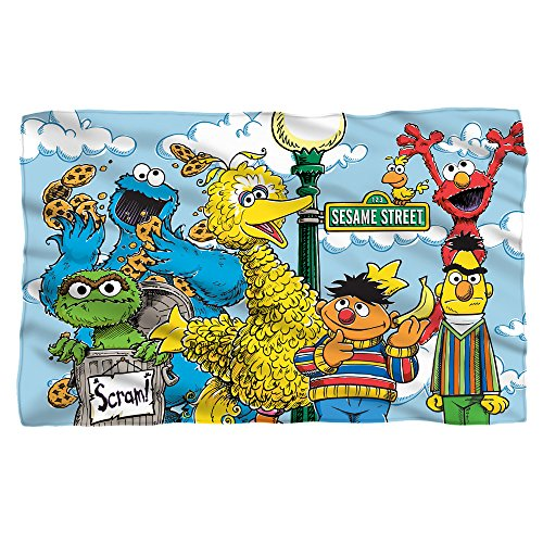 Sesame Street Retro Gang Fleece Throw Blanket (36