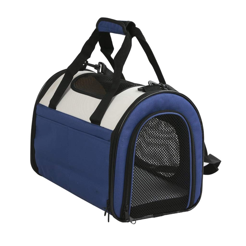 bluee PETIN-Pet backpack Pet Carrier Cat Carrier Portable Pet Bag Comfortable Loose Out Travel Hiking Camping Size 40  25  30cm (color   bluee)