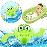 Timeracing Lovely Cartoon Animal Swimming Crocodile Wind-up Clockwork Baby Toddler Kids Pool Play Bath Toys Birthday gift - Random Color