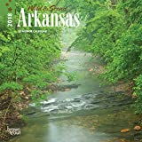 Arkansas, Wild & Scenic 2018 7 x 7 Inch Monthly Mini Wall Calendar, USA United States of America Southeast State Nature