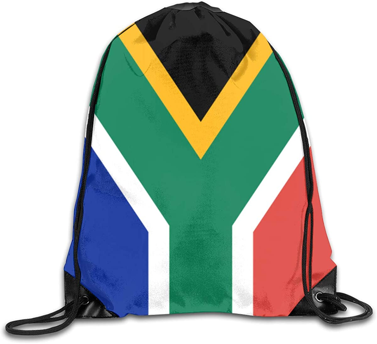 South-African-flag Beam Mouth Backpack Pull Rope Shoulder Bag Outdoor Sports Leisure Bag
