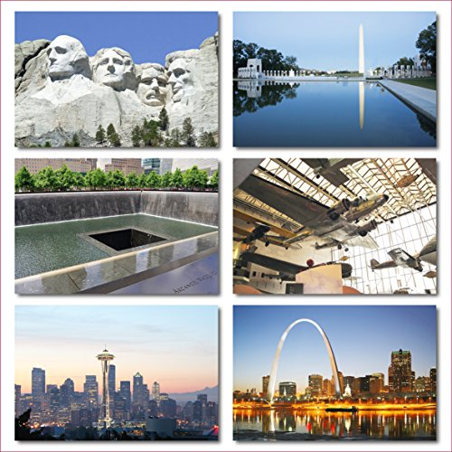 US National Monuments postcards pack - Set of 25 individual postcards featuring America's most famous national monuments and man made landmarks Photo #3