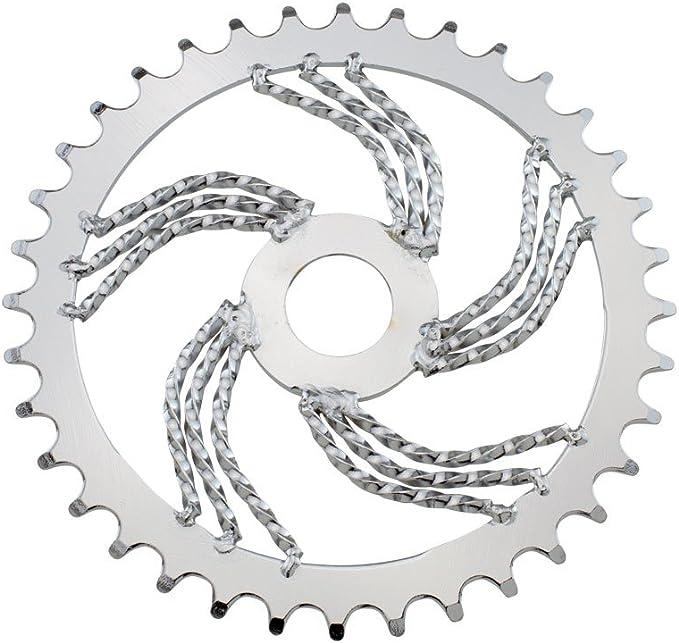 Chrome HALF DOUBLE Twist SWIRL Lowrider Bicycle Steering Wheel Bike Classic NEW