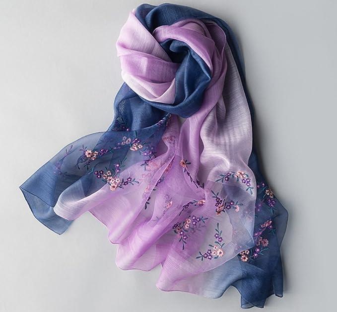 TOPSTORE01 Écharpe Châle Corée Élégant Fleurs Brodées Laine Foulard Imprimé Étole  Femme (Violet)  Amazon.fr  Vêtements et accessoires 17cc3701447