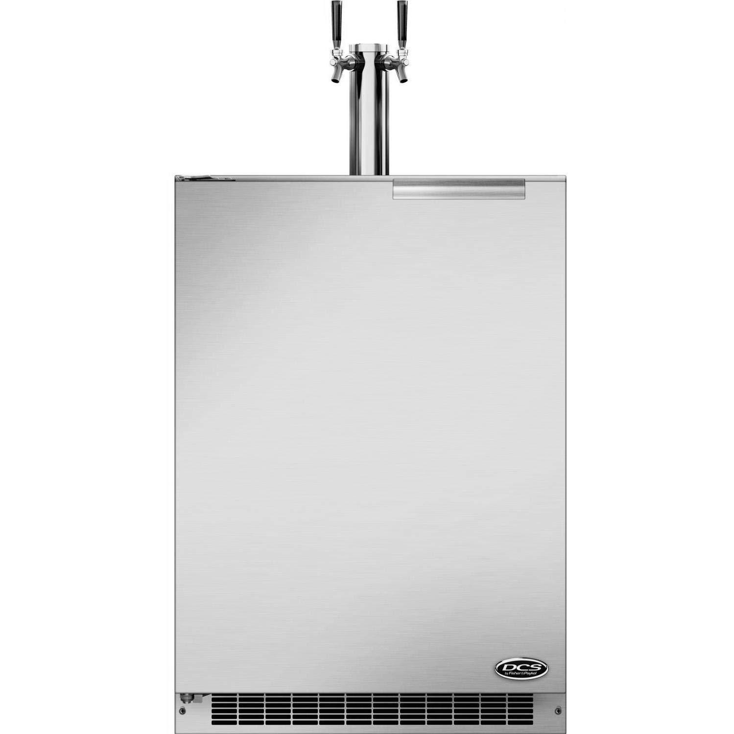DCS 24-Inch 5.7 Cu. Ft. Left Hinge Outdoor Rated Dual Tap Beer Dispenser/Kegerator - RF24BTL1
